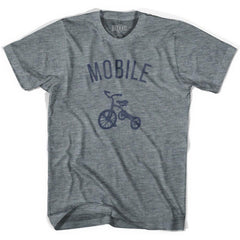 Mobile City Tricycle Adult Tri-Blend V-neck Womens T-shirt by Ultras