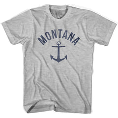 Montana State Anchor Home Cotton Womens T-shirt by Ultras