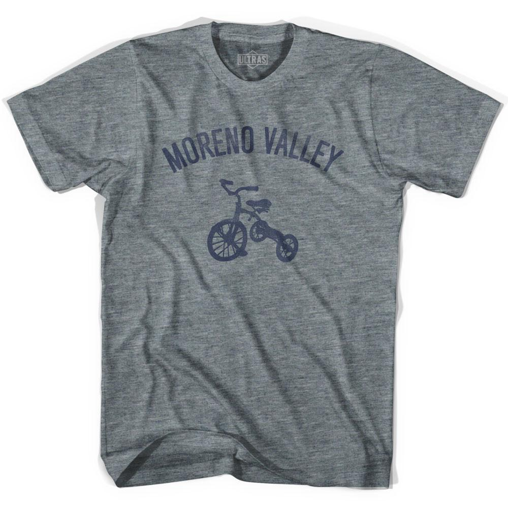 Moreno Valley City Tricycle Adult Tri-Blend V-neck Womens T-shirt by Ultras