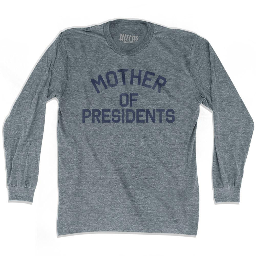 Viriginia Mother of Presidents Nickname Adult Tri-Blend Long Sleeve T-shirt by Ultras