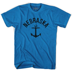 Nebraska State Anchor Home Cotton Adult T-shirt by Ultras
