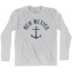 New Mexico State Anchor Home Cotton Adult Long Sleeve T-shirt by Ultras