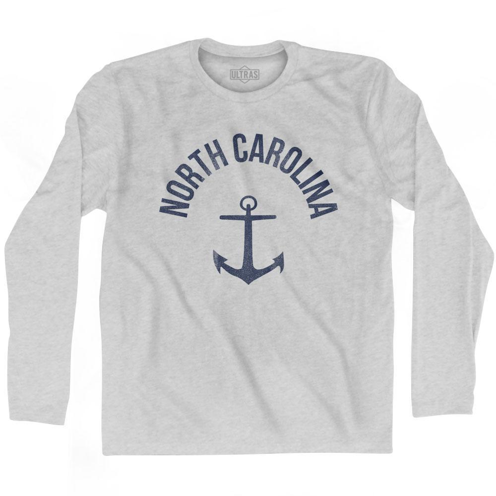 North Carolina State Anchor Home Cotton Adult Long Sleeve T-shirt by Ultras