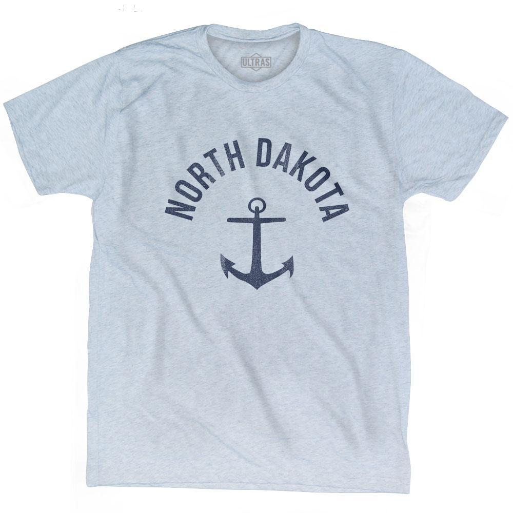 North Dakota State Anchor Home Tri-Blend Adult T-shirt by Ultras