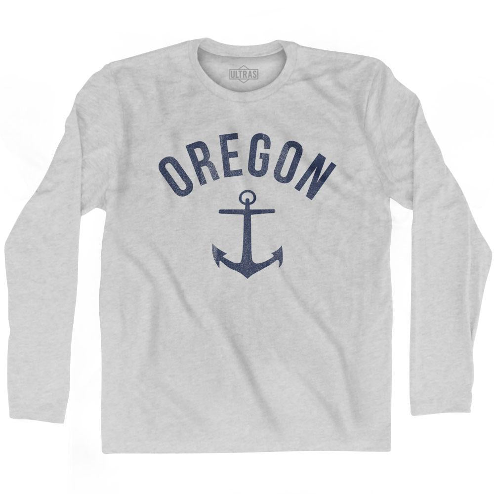 Oregon State Anchor Home Cotton Adult Long Sleeve T-shirt by Ultras