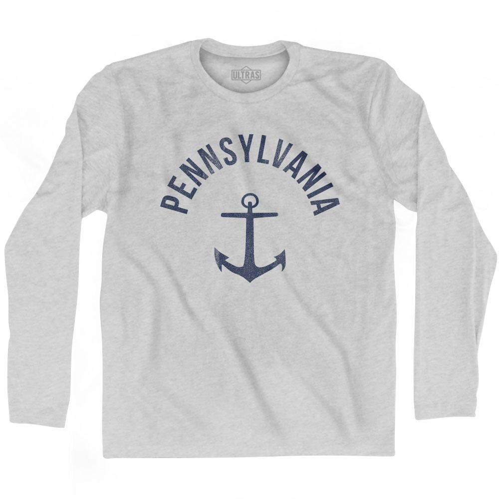 Pennsylvania State Anchor Home Cotton Adult Long Sleeve T-shirt by Ultras