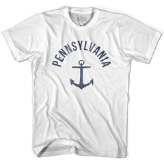 Pennsylvania State Anchor Home Cotton Womens T-shirt by Ultras
