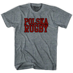 Poland Rugby Nations T-shirt in Athletic Grey by Ruckus Rugby