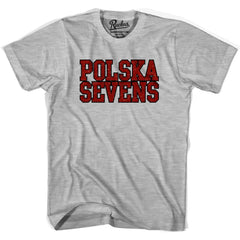 Poland Seven Rugby Nations Rugby T-shirt in Cool Grey by Ruckus Rugby