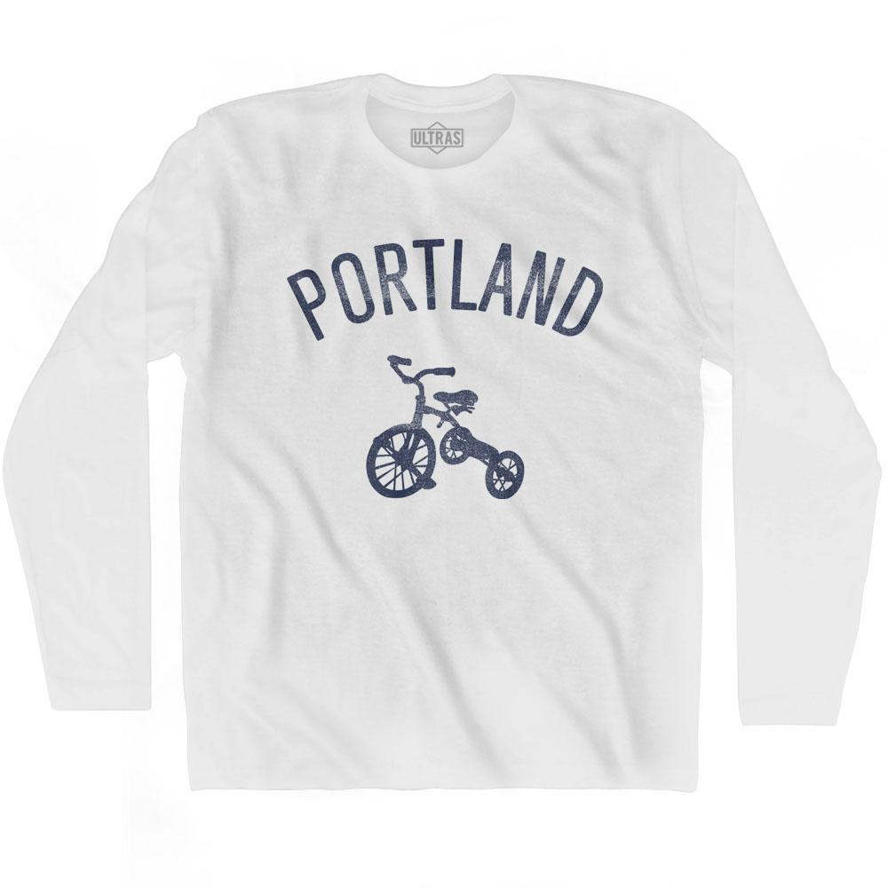 Portland City Tricycle Adult Cotton Long Sleeve T-shirt by Ultras