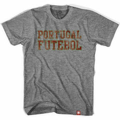 Portugal Futebol Nation Soccer T-shirt in Athletic Grey by Ultras