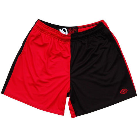 Red and Black Rugby Shorts