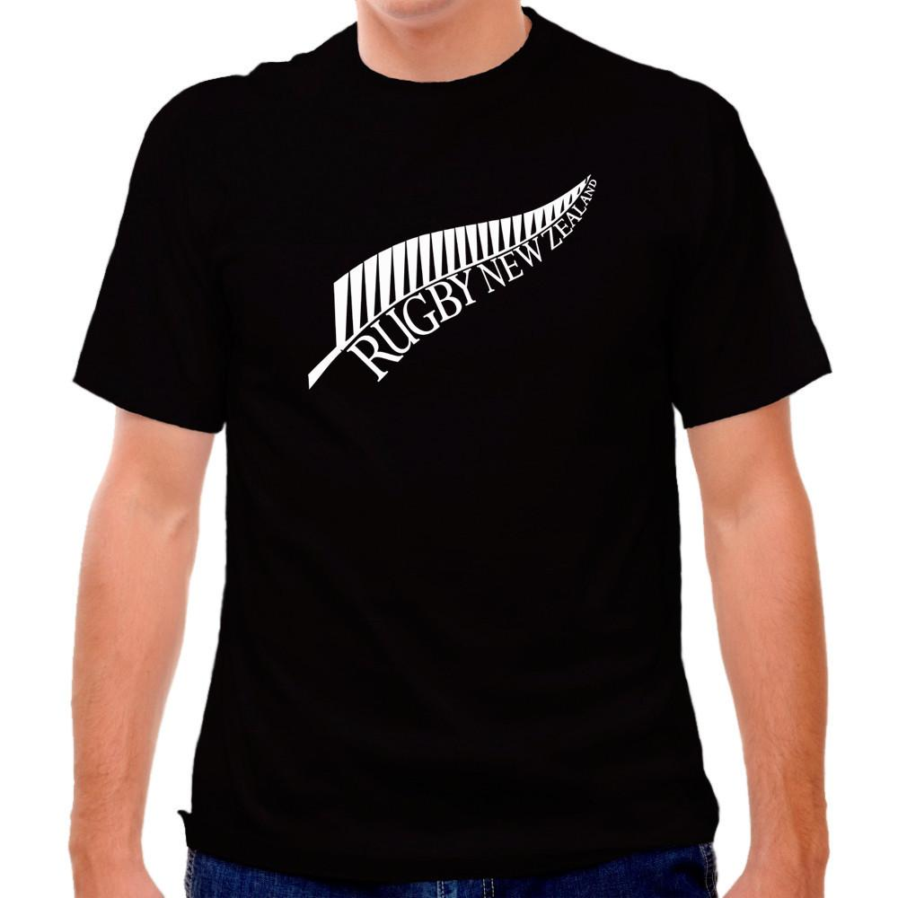New Zealand Fern RugbyT-shirt in Black by Ruckus Rugby
