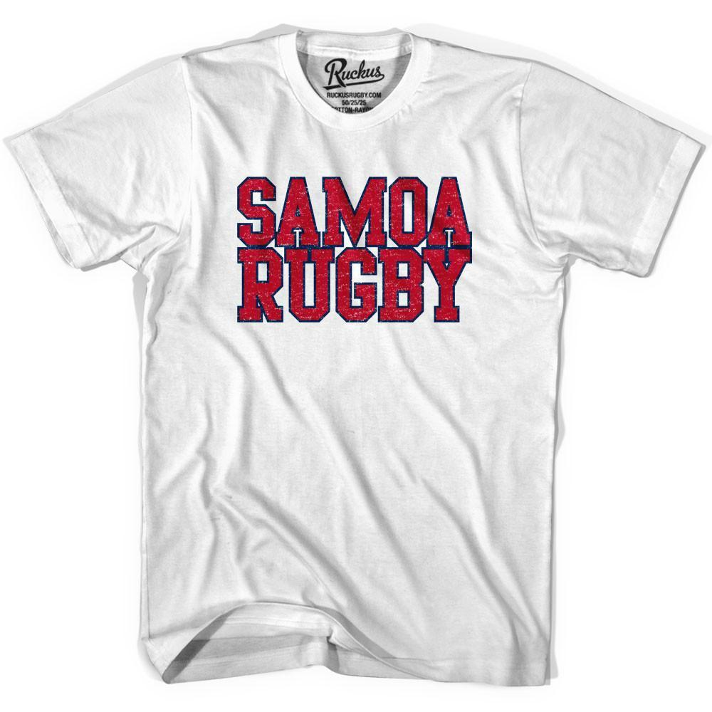 Samoa Rugby Nations T-shirt in Cool Grey by Ruckus Rugby