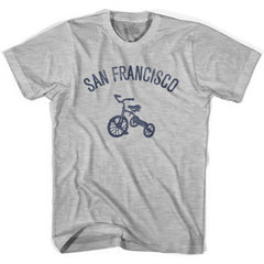 San Francisco City Tricycle Womens Cotton T-shirt by Ultras