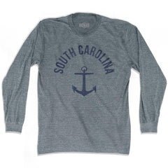 South Carolina State Anchor Home Tri-Blend Adult Long Sleeve T-shirt by Ultras
