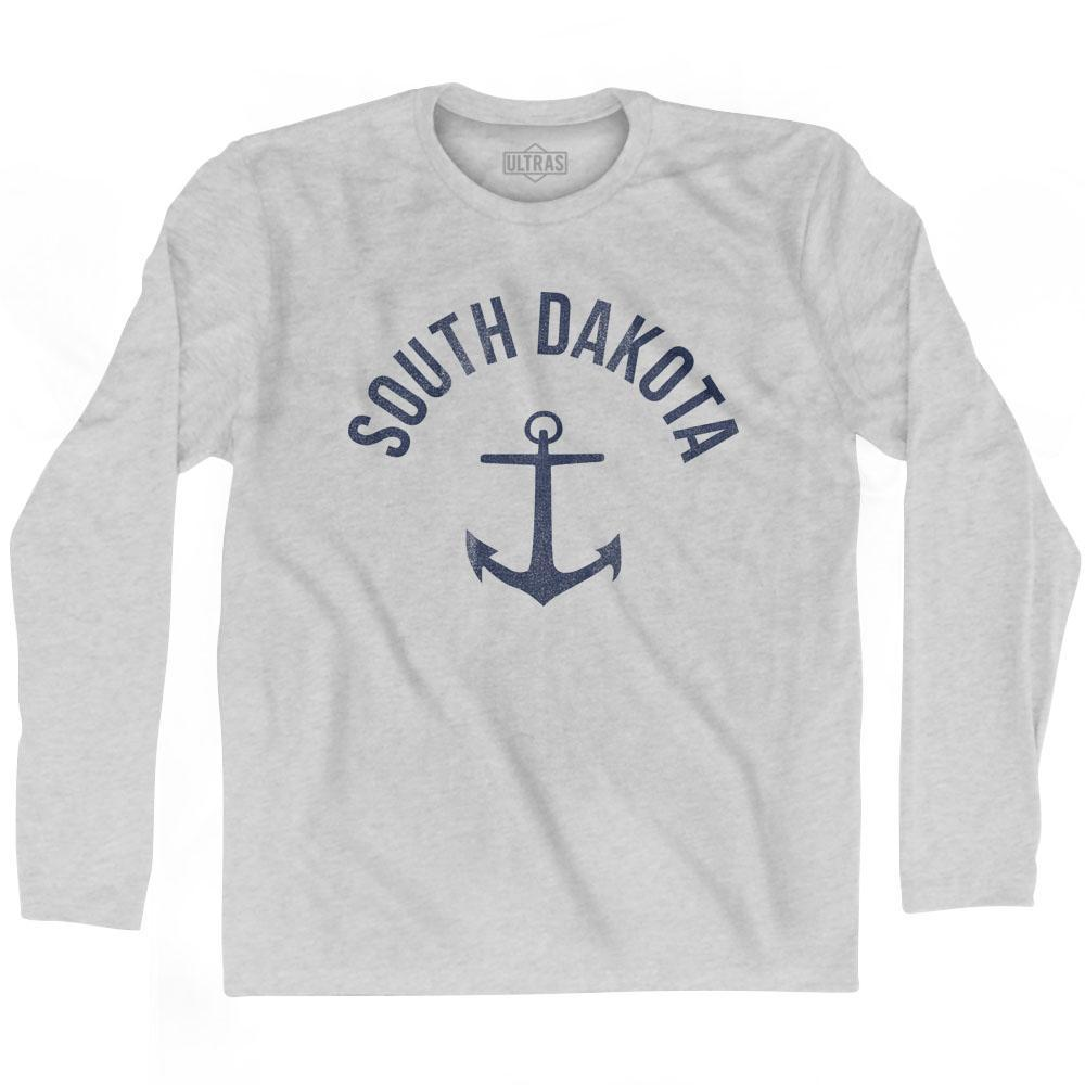 South Dakota State Anchor Home Cotton Adult Long Sleeve T-shirt by Ultras
