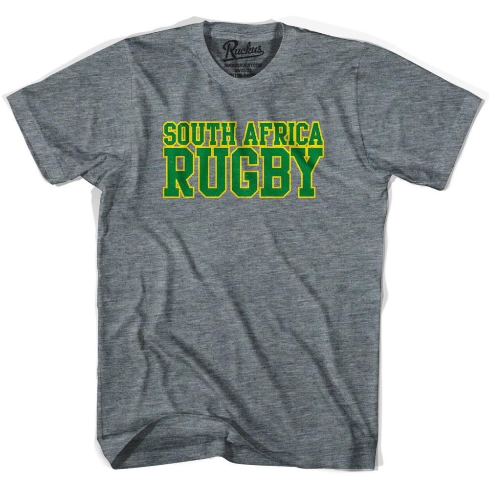 South Africa Rugby Nations T-shirt in Athletic Grey by Ruckus Rugby