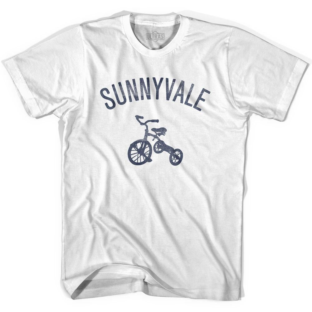 Sunnyvale City Tricycle Womens Cotton T-shirt by Ultras