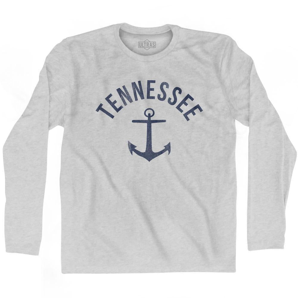 Tennessee State Anchor Home Cotton Adult Long Sleeve T-shirt by Ultras