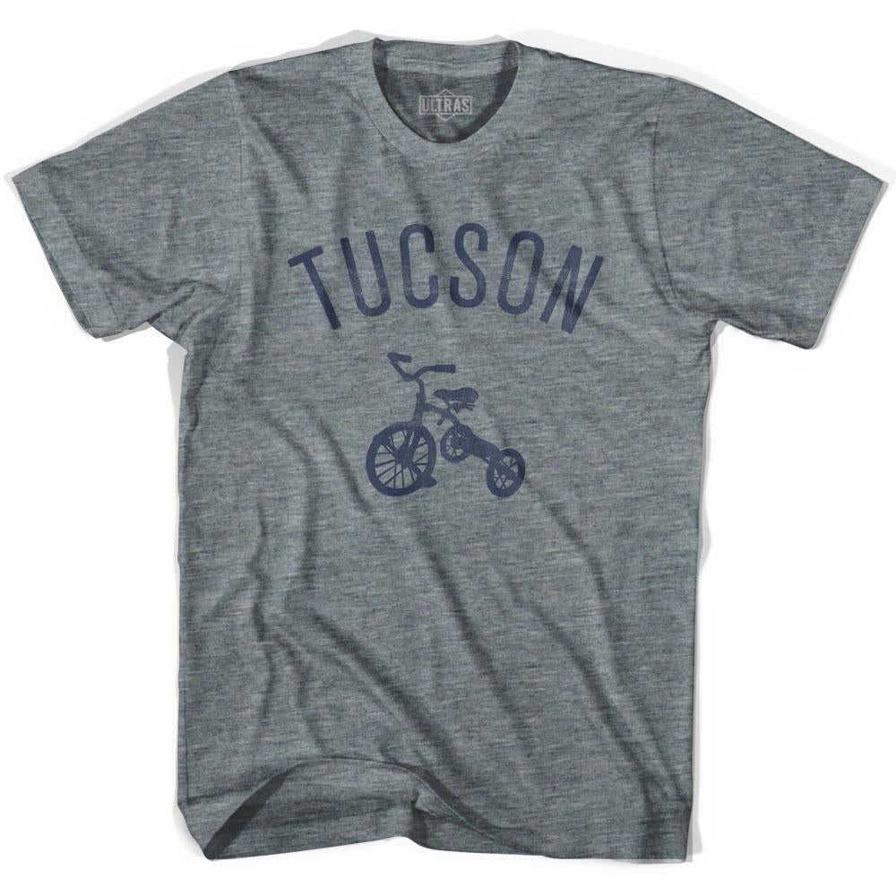 Tucson City Tricycle Adult Tri-Blend V-neck Womens T-shirt by Ultras