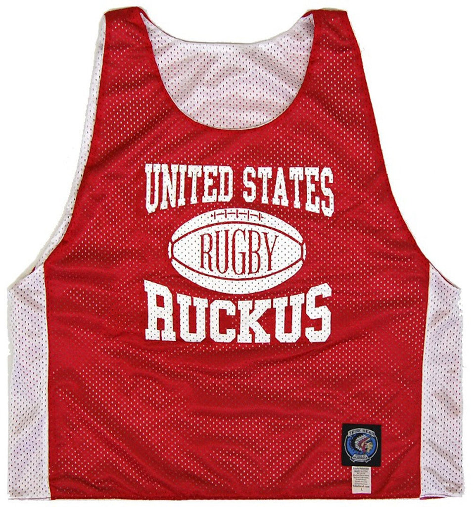 United States Training Reversible Rugby Pinnie in Red and White by Ruckus Rugby