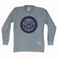 USA Eagle Soccer Ball Long Sleeve T-shirt in Athletic Grey by Ultras