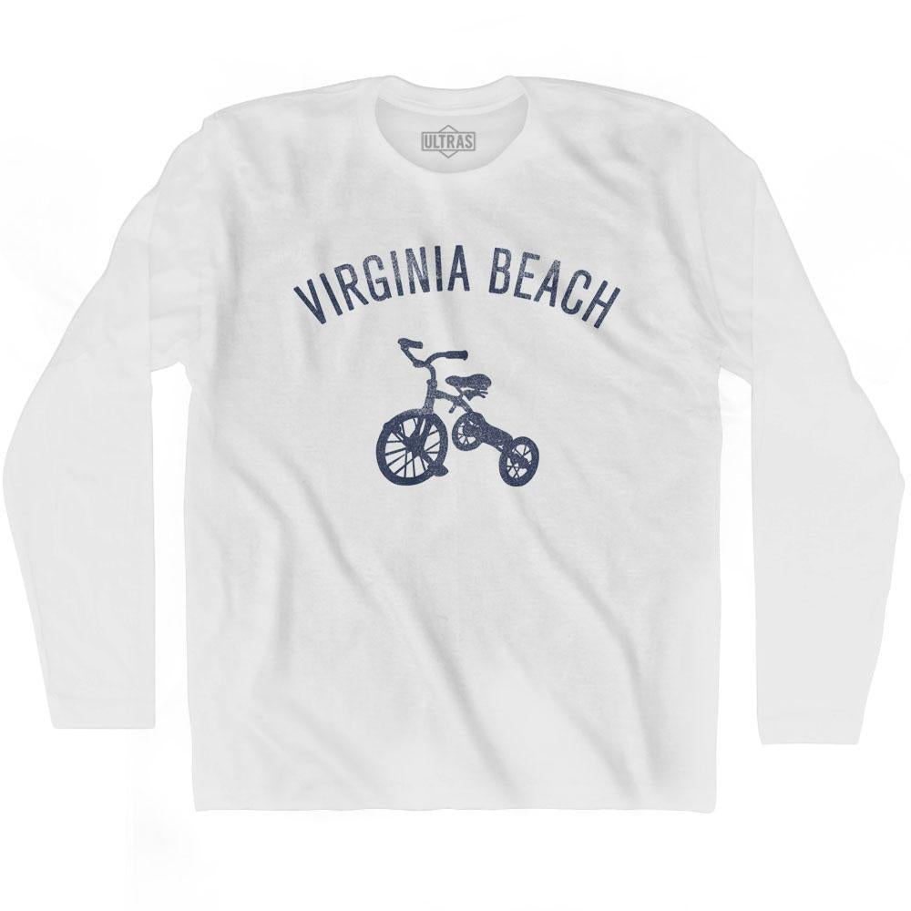 Virginia Beach City Tricycle Adult Cotton Long Sleeve T-shirt by Ultras