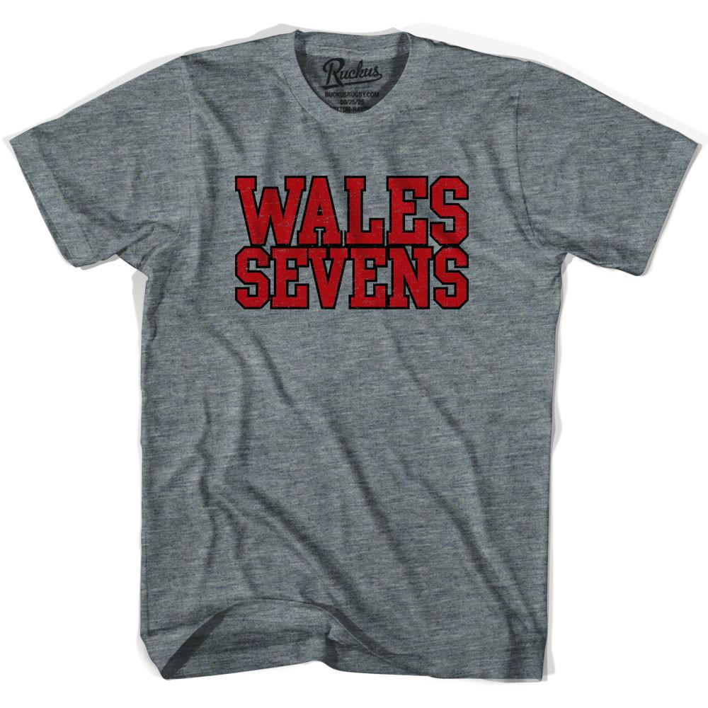 Wales Sevens Rugby T-shirt in Athletic Grey by Ruckus Rugby