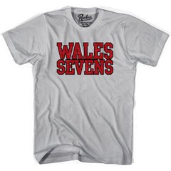 Wales Seven Rugby Rugby Nations T-shirt in Cool Grey by Ruckus Rugby