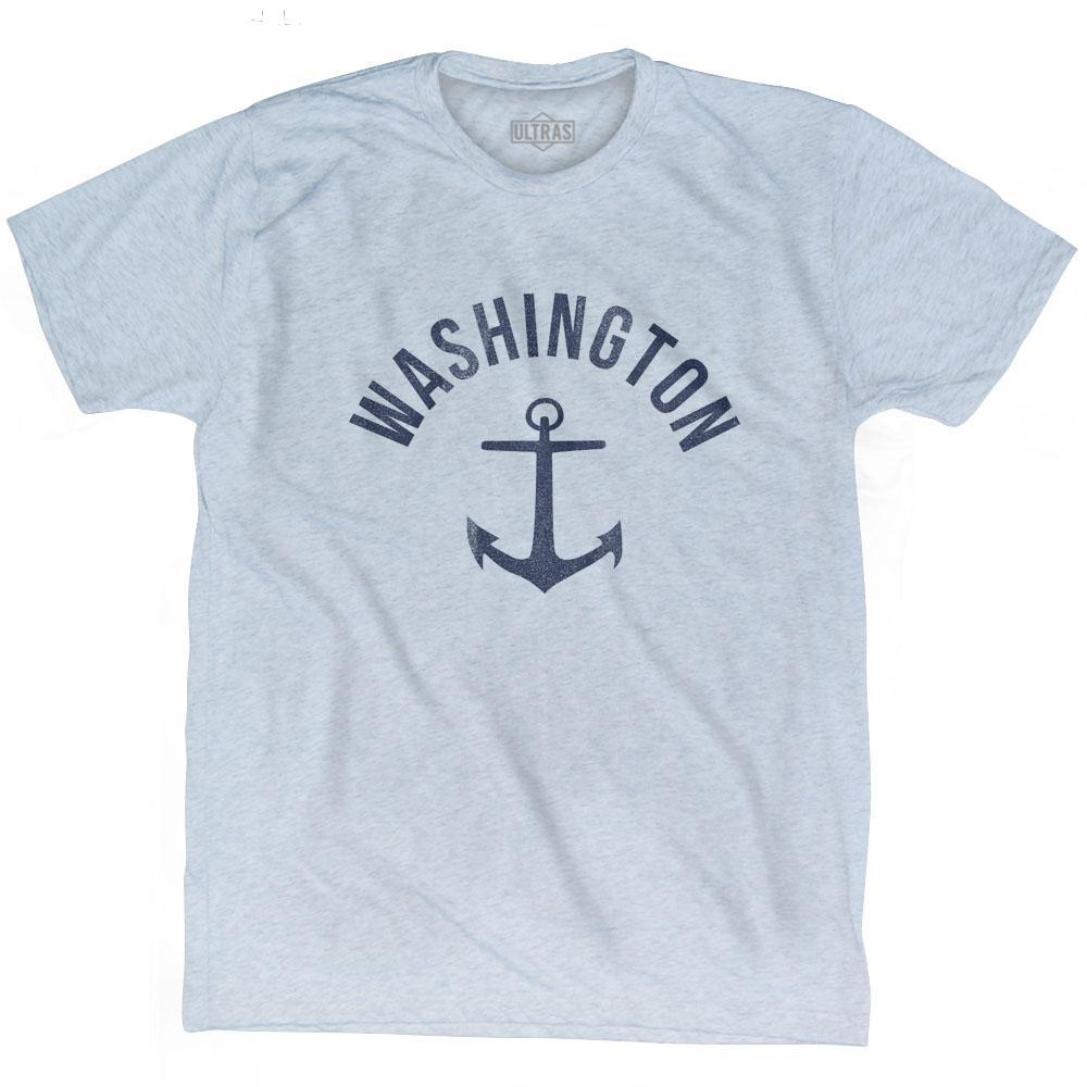 Washington State Anchor Home Tri-Blend Adult T-shirt by Ultras