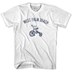 West Palm Beach City Tricycle Womens Cotton T-shirt by Ultras