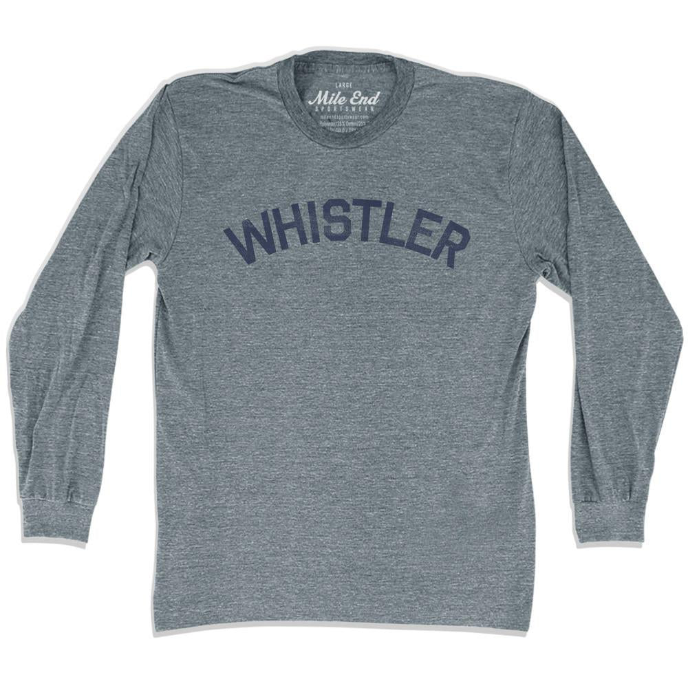 Whistler City Vintage Long Sleeve T-Shirt in Athletic Grey by Mile End Sportswear