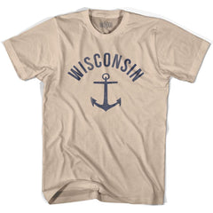 Wisconsin State Anchor Home Cotton Adult T-shirt by Ultras