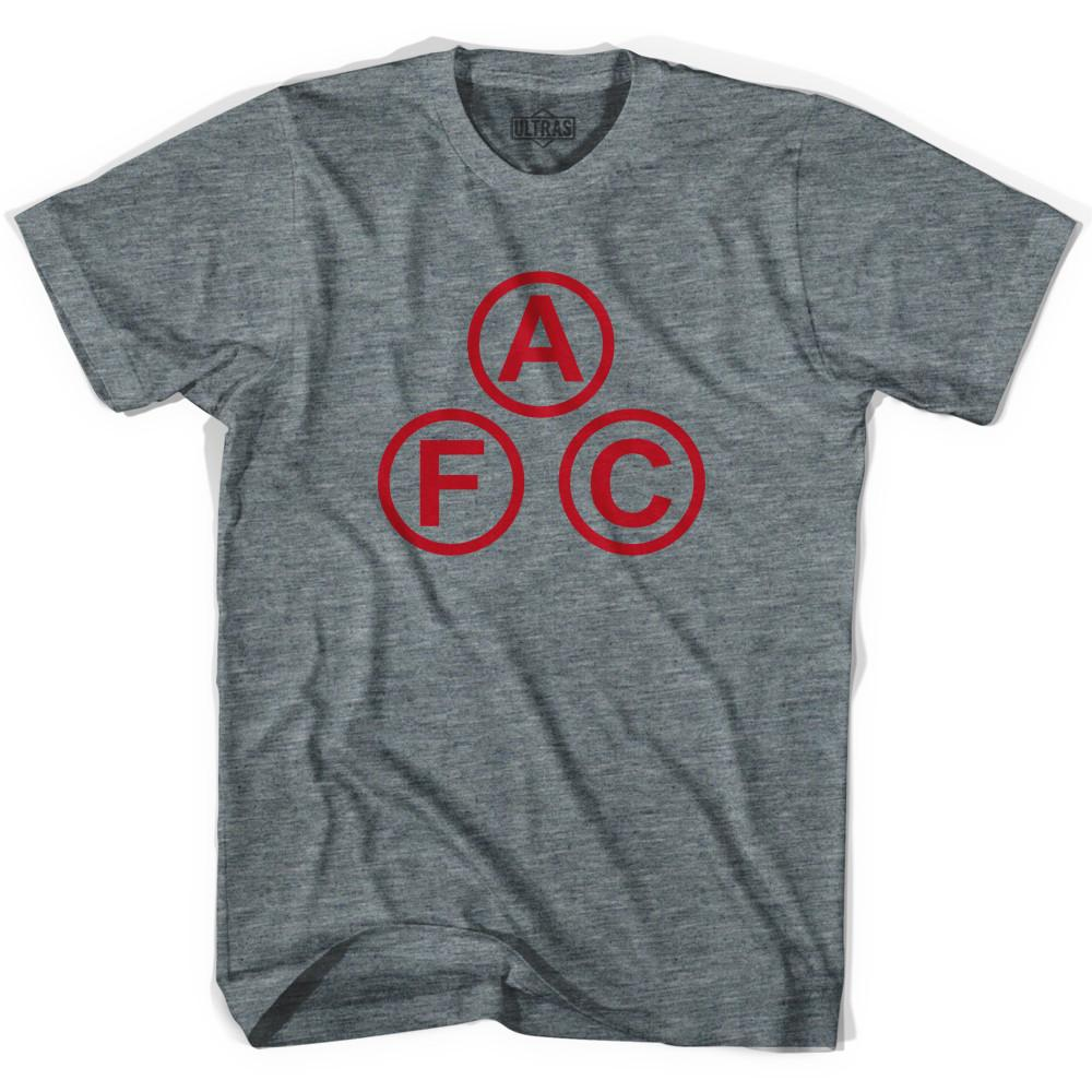 Ultras Arsenal AFC Cannon Balls Soccer T-shirt in Athletic Grey by Ultras