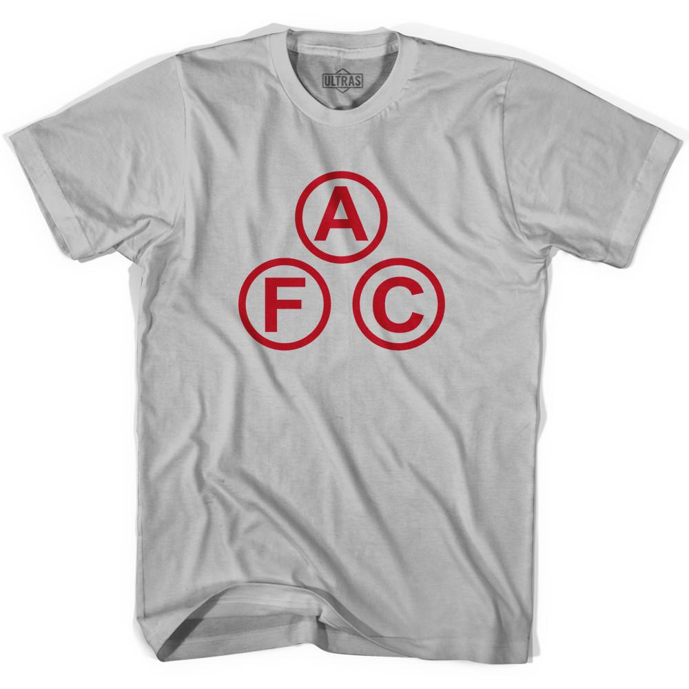 Ultras Arsenal AFC Cannon Balls Soccer T-shirt in Cool Grey by Ultras