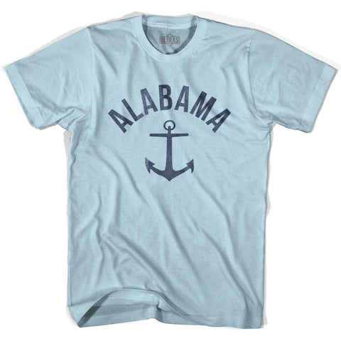 Alabama State Anchor Home Cotton Adult T-shirt