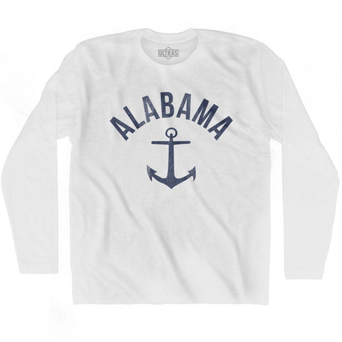 Alabama State Anchor Home Cotton Adult Long Sleeve T-shirt