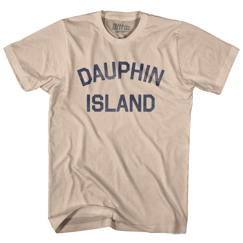 Alabama Dauphin Island Adult Cotton Vintage T-shirt by Ultras