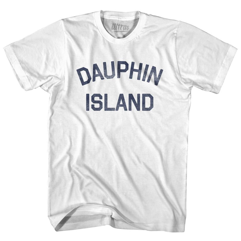 Alabama Dauphin Island Womens Cotton Junior Cut Vintage T-shirt by Ultras