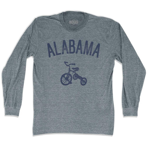 Alabama State Tricycle Adult Tri-Blend Long Sleeve T-shirt
