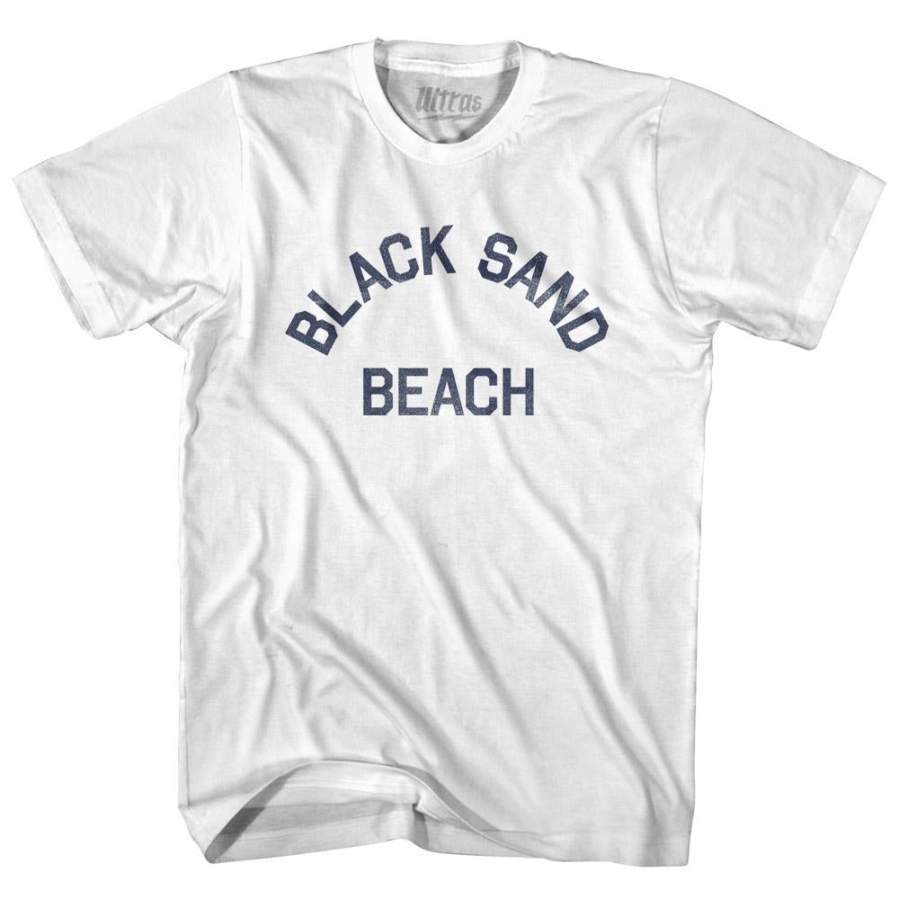 Alaska Black Sand Beach Womens Cotton Junior Cut Vintage T-shirt by Ultras