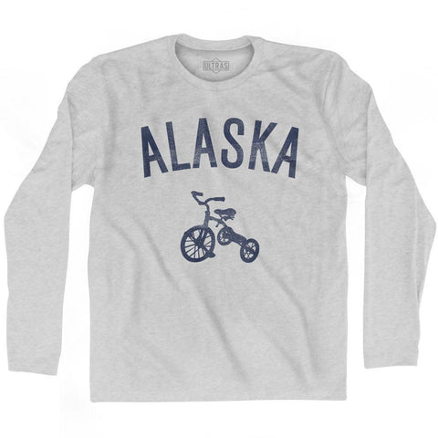 Alaska State Tricycle Adult Cotton Long Sleeve T-shirt