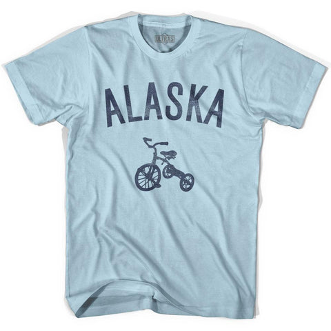 Alaska State Tricycle Adult Cotton T-shirt