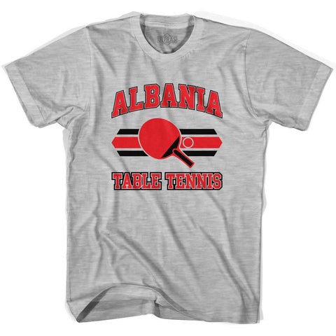 Albania Table Tennis Adult Cotton T-shirt