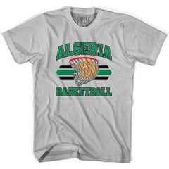 Algeria 90's Basketball Net T-shirt in Grey Heather by Billy Hoyle