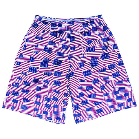 American Flag Party Lacrosse Shorts