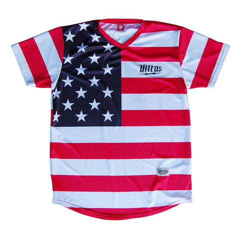 American Flag #76 Sublimated Soccer Jersey