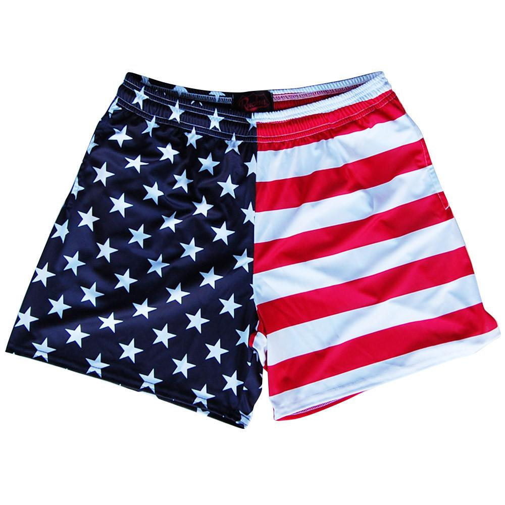 American Flag Jacks Rugby Shorts in Red White & Blue by Ruckus Rugby