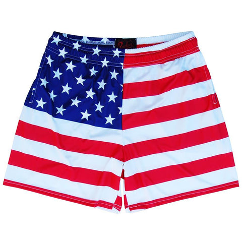 American Flag Rugby Shorts
